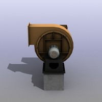 low-poly ventilation engine 3d max