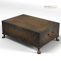 ralph lauren 842-40 dalton cocktail coffee table trunk country classic traditional