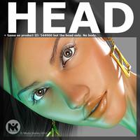 3 face nia 2head 3d model