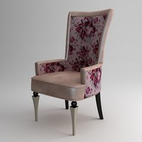 3d chair armchair flower model