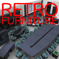 retro furniture 3d model