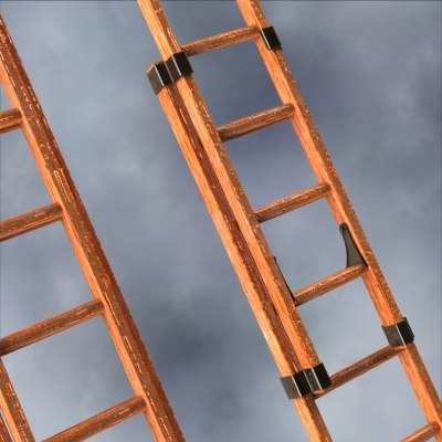 wood extension ladders 3