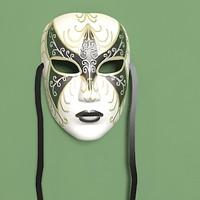3d venetian carnival mask model
