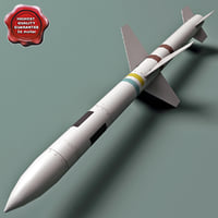 aircraft missile agm-45 shrike 3d 3ds