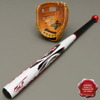 Baseball Glove and Bat baseball