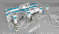 fair stand exhibition shop 3d model