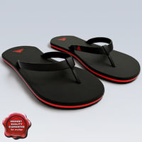 sandals modelled 3d 3ds