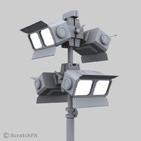 heavy duty military light 3d model