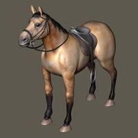 bay horse 3d model