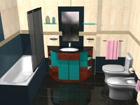 bathroom modern 3d model
