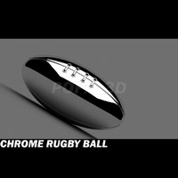 3d model of chrome american foot ball