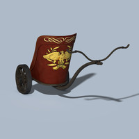 chariot carriage cart 3d model