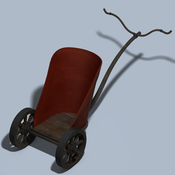 chariot carriage cart 3d model - Chariot... by DougWalters