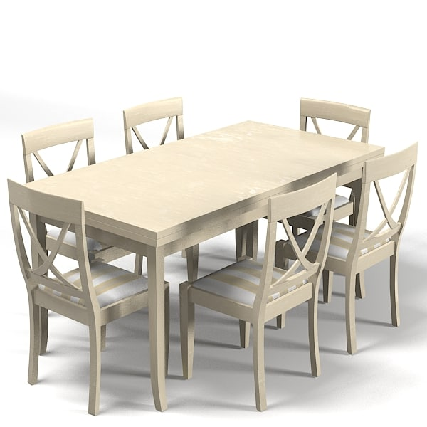Dining Tables Country Style: Country Style Dining 3d Model