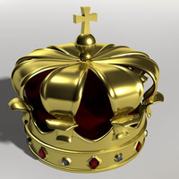 crown diamonds rubies 3d model