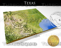 Texas, High resolution 3D relief maps