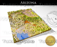 Arizona, High resolution 3D relief maps