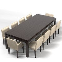 Meridiani Douglas Dining Table and chair set