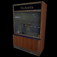 3d model of ticket booth