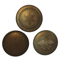 bronze shields 3d model