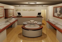 jewellery shop 3d model