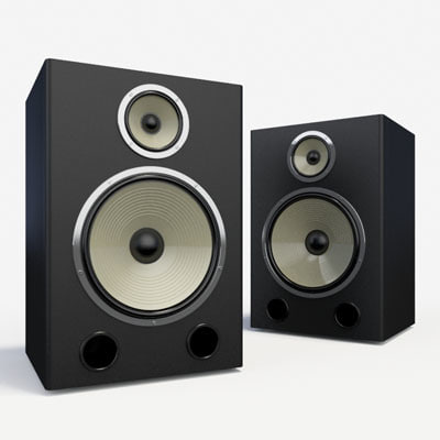 3d model speakers home