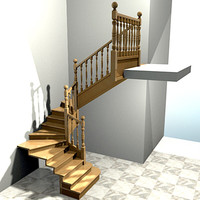 interior stairs escaleras 3d model