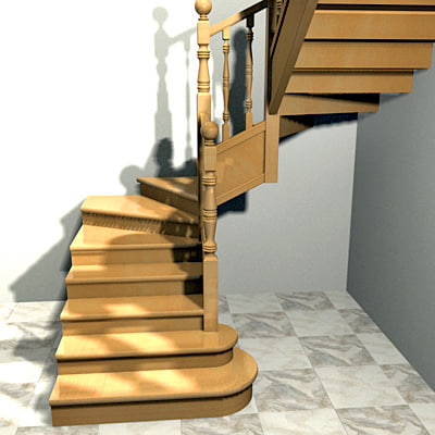 Interior stairs escaleras 3d model for Escaleras 3d max
