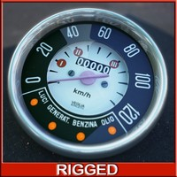 Fiat 500 speedometer