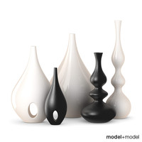 3d model rochebobois vases