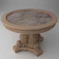 qualitative baroque table 3d model