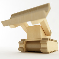 toy bulldozer 3d max