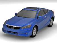 honda accord coupe 3d c4d