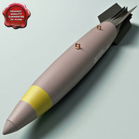 3d model aircraft bomb mk-83 snakeye