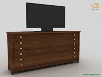 Cabinet with TV
