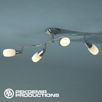 s curved ceiling lamp 3d model