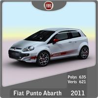 2011 fiat punto abarth 3d model