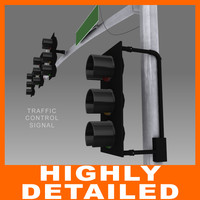 Highly Detailed Traffic Control Signal