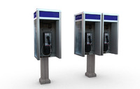 payphone pay phone 3d max