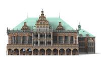 town hall bremen 3d model