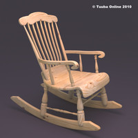 finnish rocking chair - 3d obj