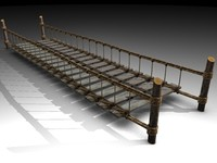 rope ropebridge bridge 3d model