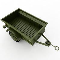 t3 trailer 3d model