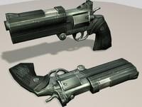 high-tech revolver 3d model
