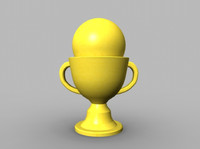 3d trophy model