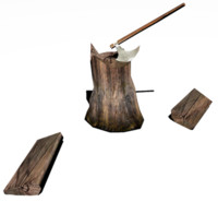 3d block woodchopping model