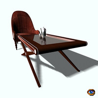 3d cofee party table model