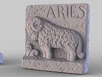 Aries Stone Plaque