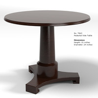 baker pedestal side 7863 table modern  round contemporary side thomas pheasant