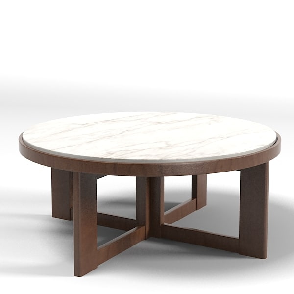 Baker Coffee Table Round: Baker Verneuil 9351 3d Max